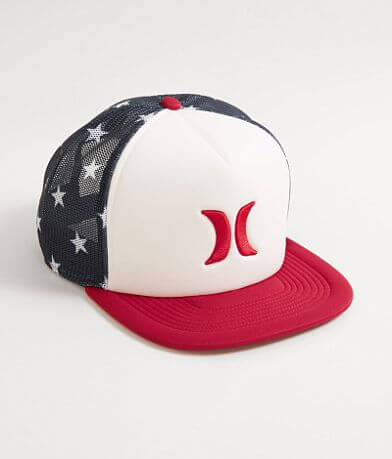 Hurley Blocked USA Trucker Hat