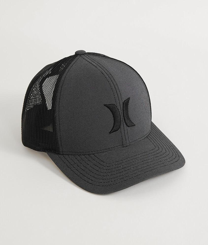c533deadc80 ... new arrivals hurley iconic harbor trucker hat mens hats in black white  buckle 1e045 e20f2