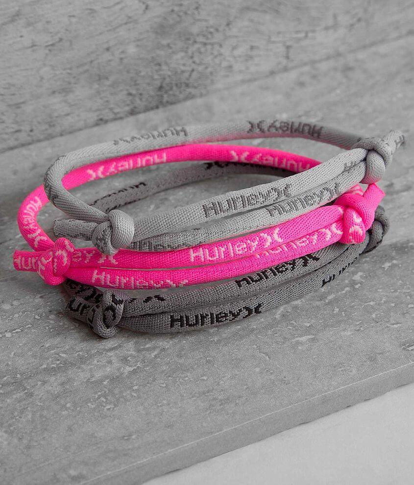 Hurley Leash Rope Bracelet Set front view