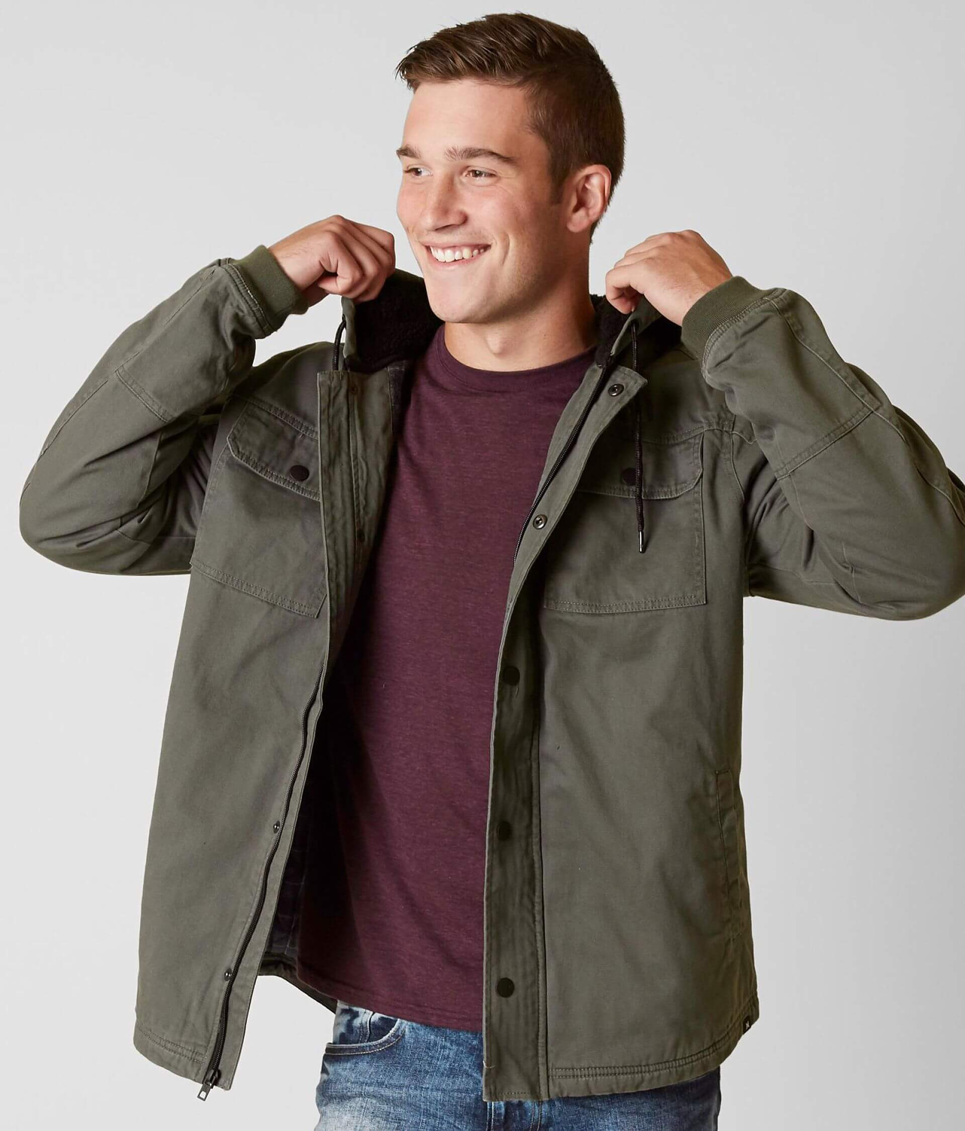 ad5a0548d77 Hurley Outdoor Jacket - Men s Coats Jackets in River Rock