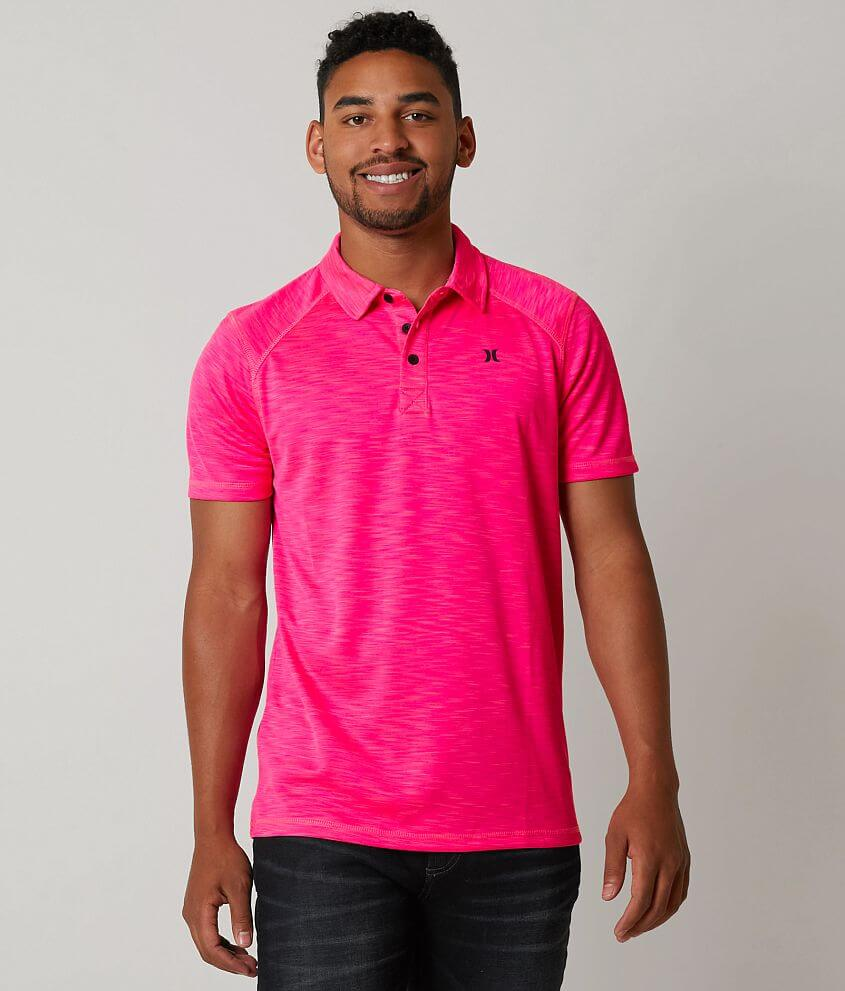 Hurley Lawsen Dri Fit Polo Mens Polos In Hyper Pink Buckle