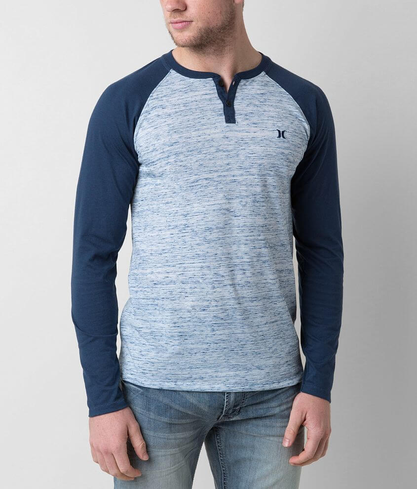 Hurley Marled Henley front view
