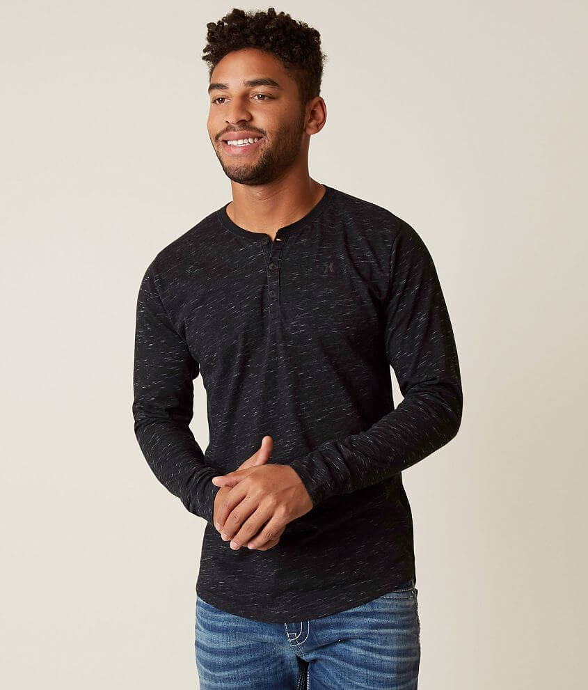 2ee62f53f Hurley San Clemente Dri-FIT Henley - Men's T-Shirts in Black | Buckle