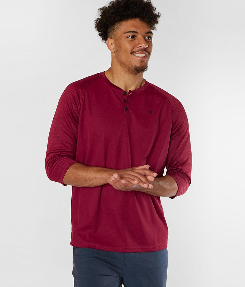 Hurley Lawson Dri-FIT Henley front view