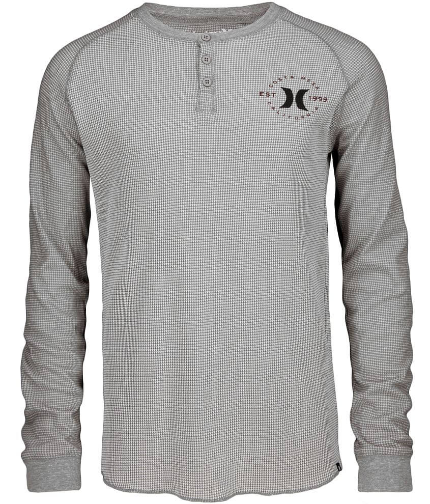 Hurley Rollback Thermal Henley front view