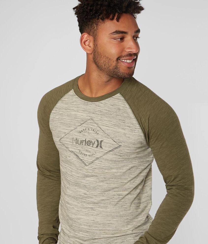 Hurley Tassle Raglan T-Shirt front view