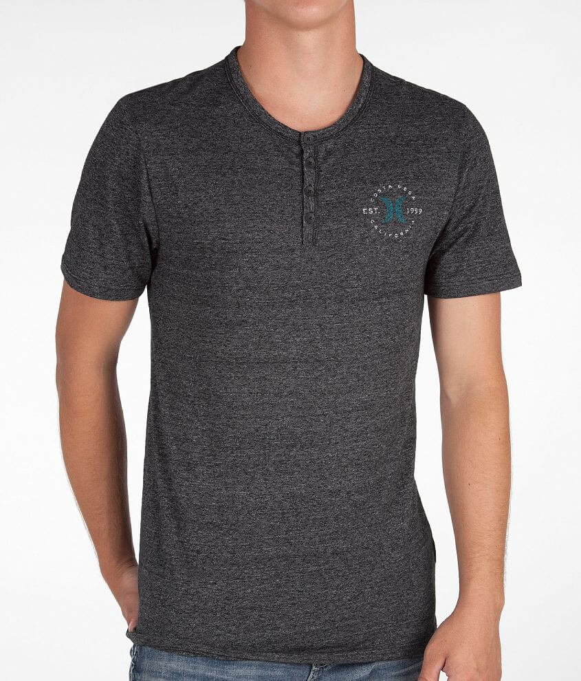Hurley Roll Back Henley front view