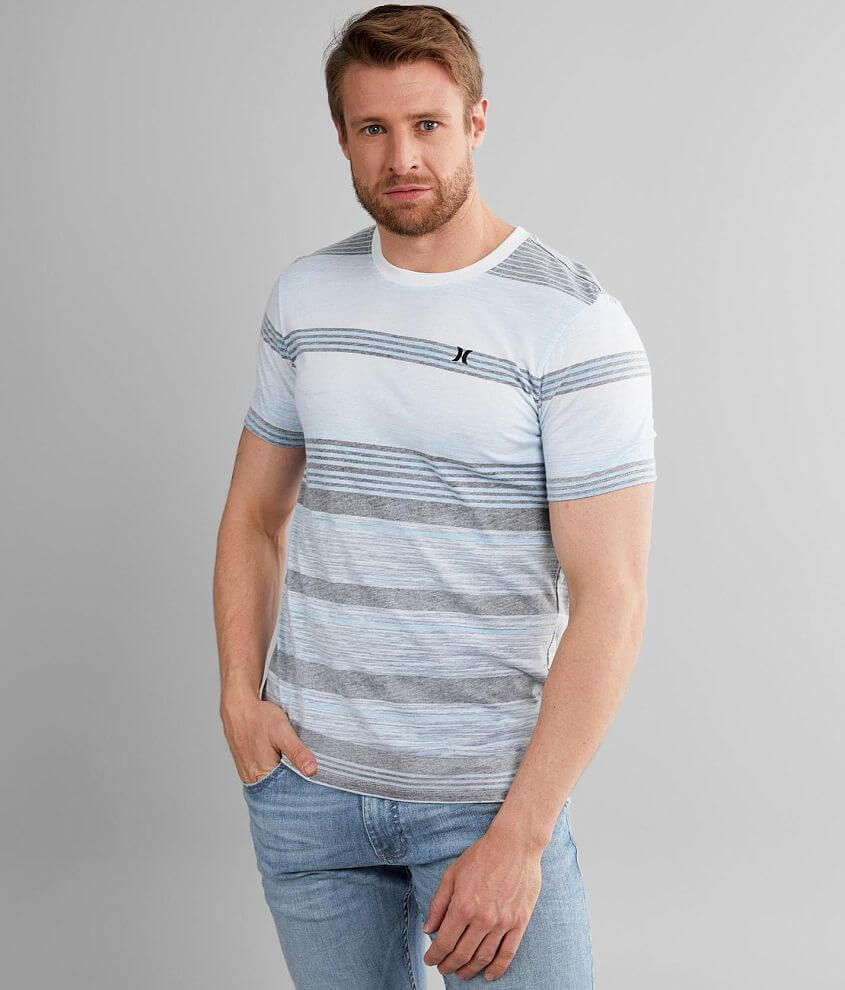 Hurley Splintered Striped T-Shirt front view