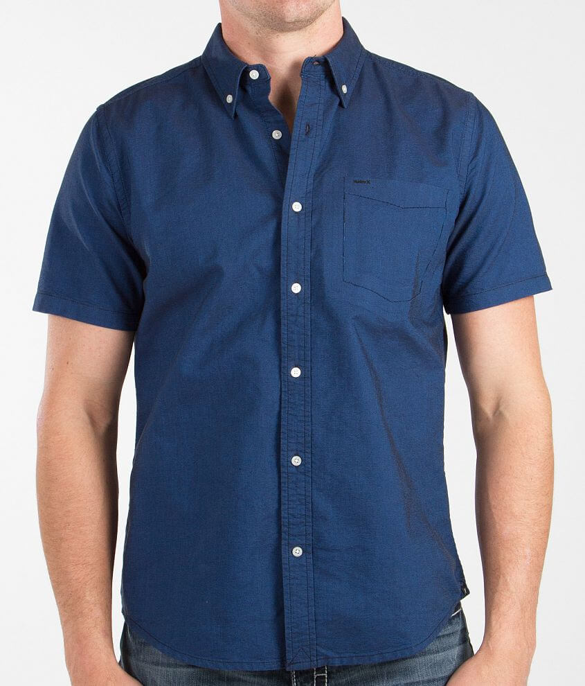 Hurley Ace Oxford Shirt Mens Shirts In Ultra Marine Blue Buckle