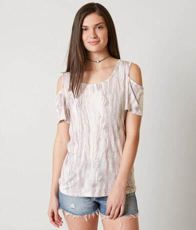 Moon & Sky Cold Shoulder Top