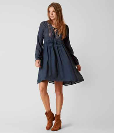 Moon & Sky Peasant Dress