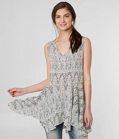 Moon & Sky Geometric Tunic Tank Top