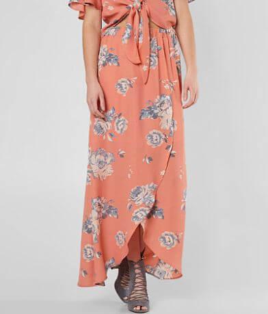 Moon & Sky Floral Maxi Skirt