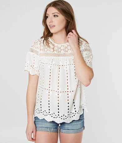 Moon & Sky Lace Eyelet Top
