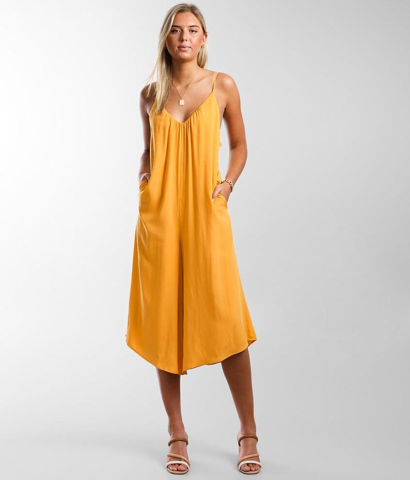 Daytrip Flowy Wide Leg Cropped Jumpsuit front view