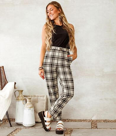 Willow & Root Plaid Trouser Pant