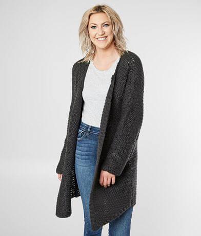 irini Waffle Stitch Cardigan Sweater