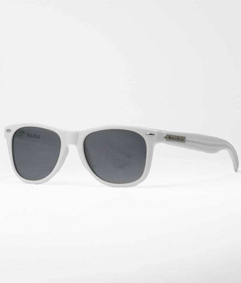 Buckle Black Sunglasses front view