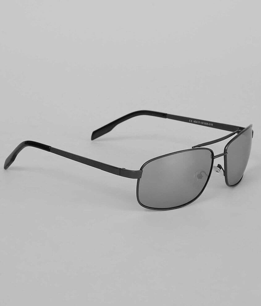 BKE Textured Square Aviator Sunglasses front view