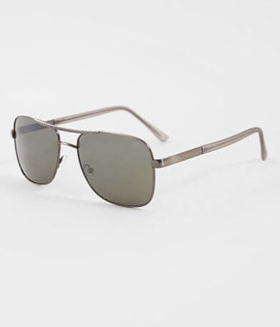 BKE Textured Browbar Aviator Sunglasses