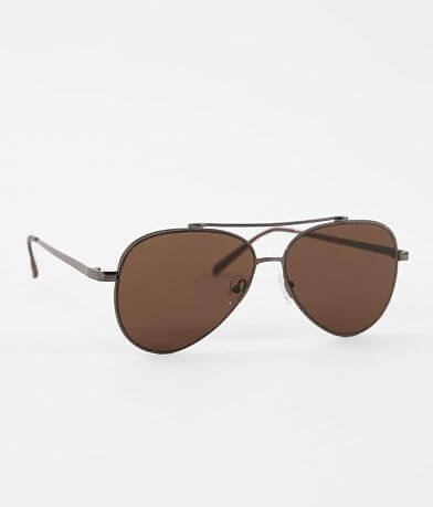 BKE Brown Wire Aviator Sunglasses