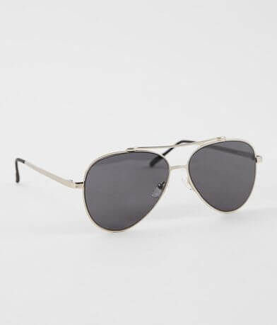 BKE Silver Wire Aviator Sunglasses