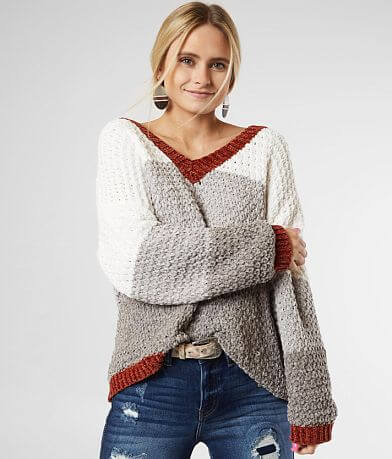 Daytrip Color Block Chenille Sweater