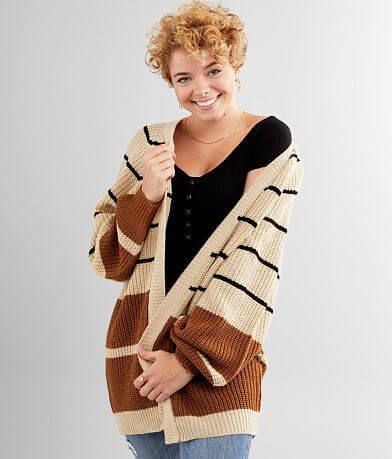 BKE Striped Cardigan Sweater