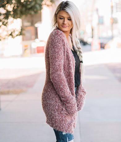 Willow & Root Eyelash Knit Cardigan Sweater