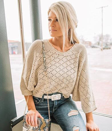 Willow & Root Pointelle Cropped Sweater