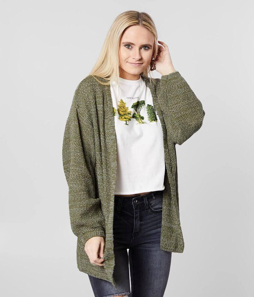 Daytrip Open Stitch Cardigan Sweater front view