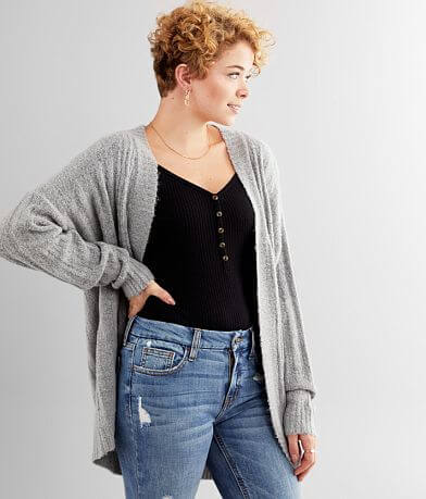 Daytrip Moss Yarn Cardigan Sweater