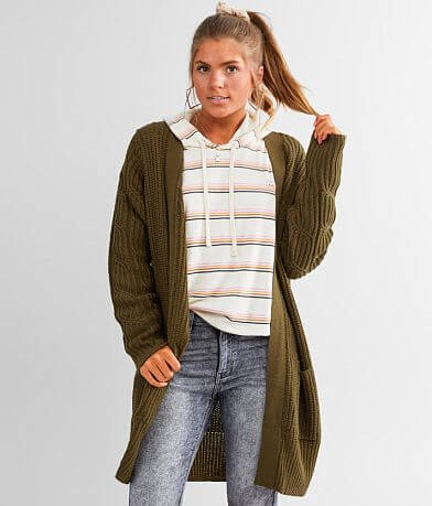 Daytrip Cable Knit Cardigan Sweater