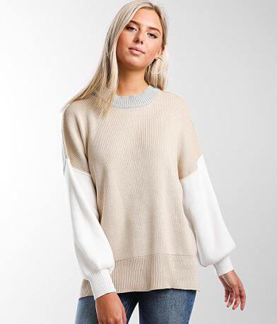 BKE Color Block Pullover Sweater