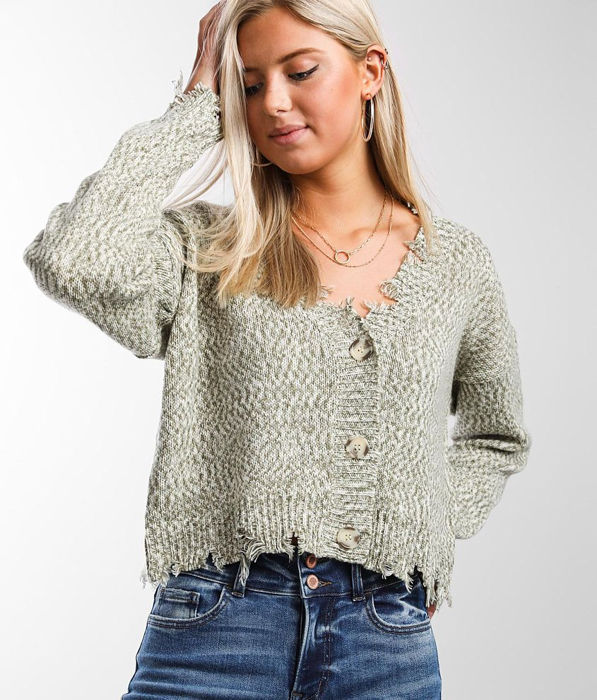 Daytrip Marled Cardigan Sweater front view