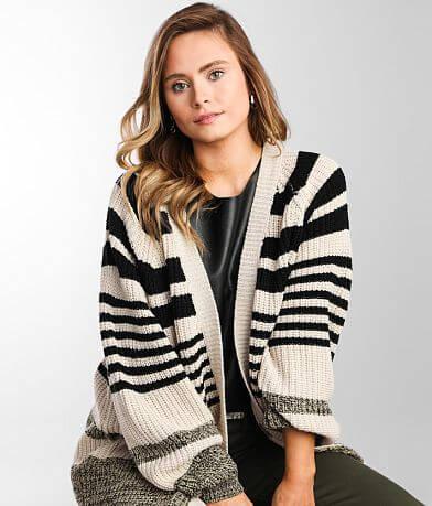 Daytrip Variegated Flyaway Cardigan Sweater