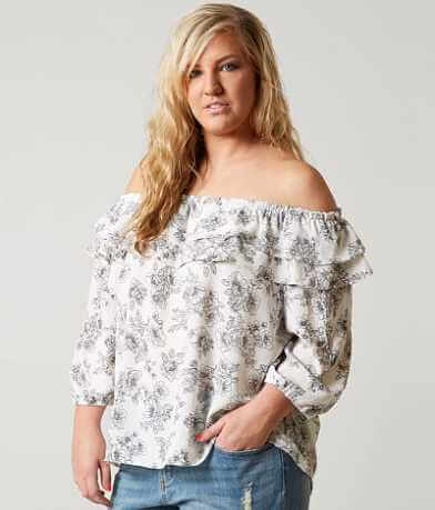 In NY Off The Shoulder Top - Plus Size Only