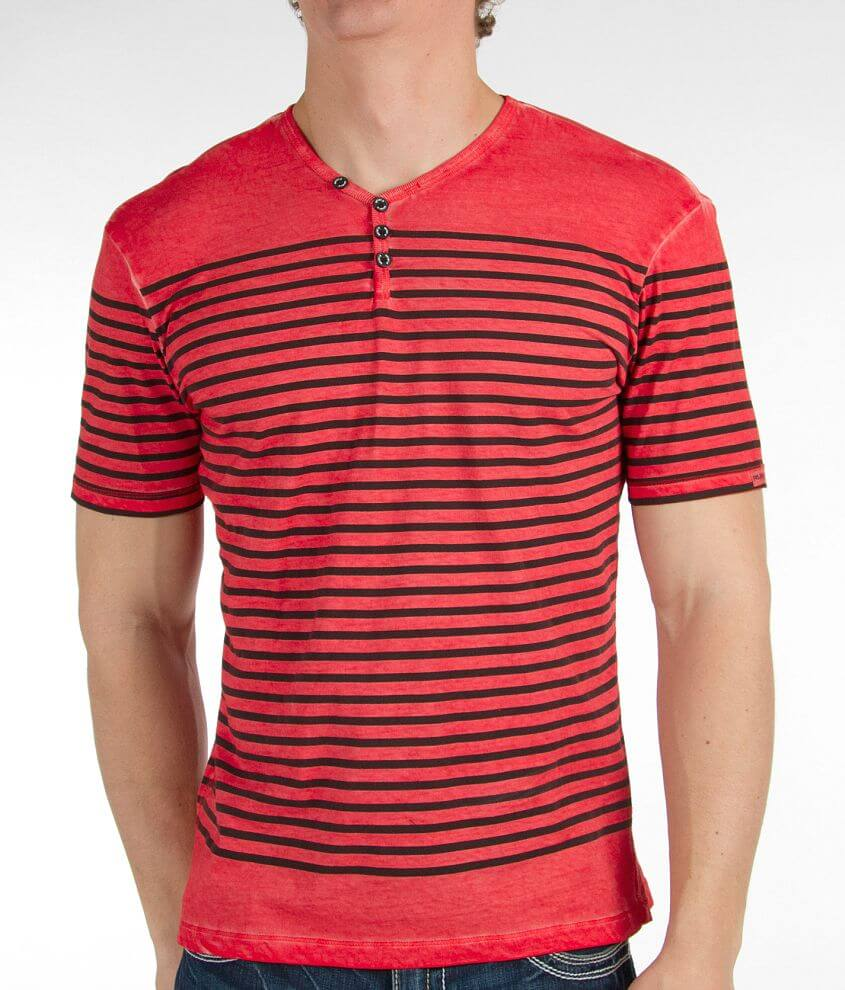 Projek Raw Striped Henley front view