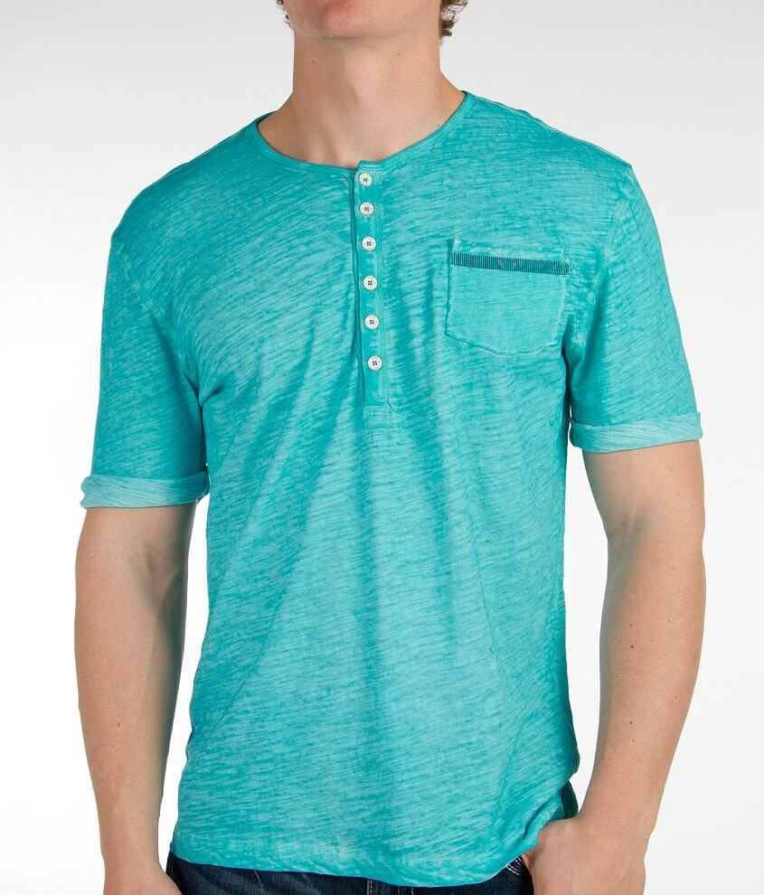 Projek Raw Washed Henley front view