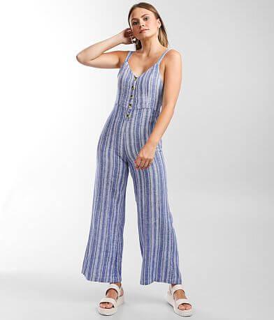 Indigo Rein Woven Striped Jumpsuit