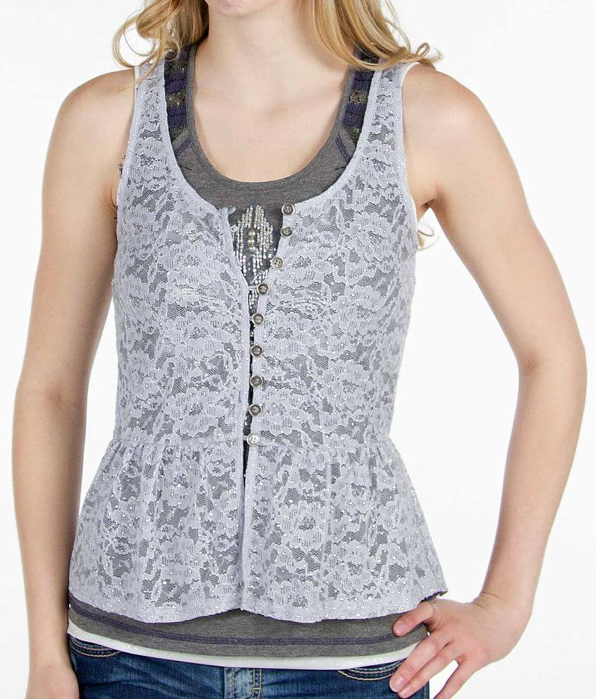 Daytrip Lace Tank Top front view