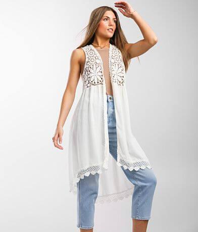 Ultra Pink® Crochet Trim Vest
