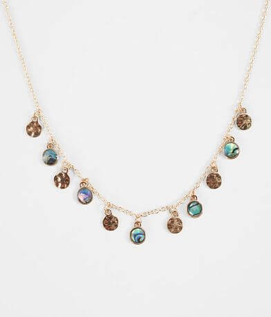 BKE Abalone Disc Necklace