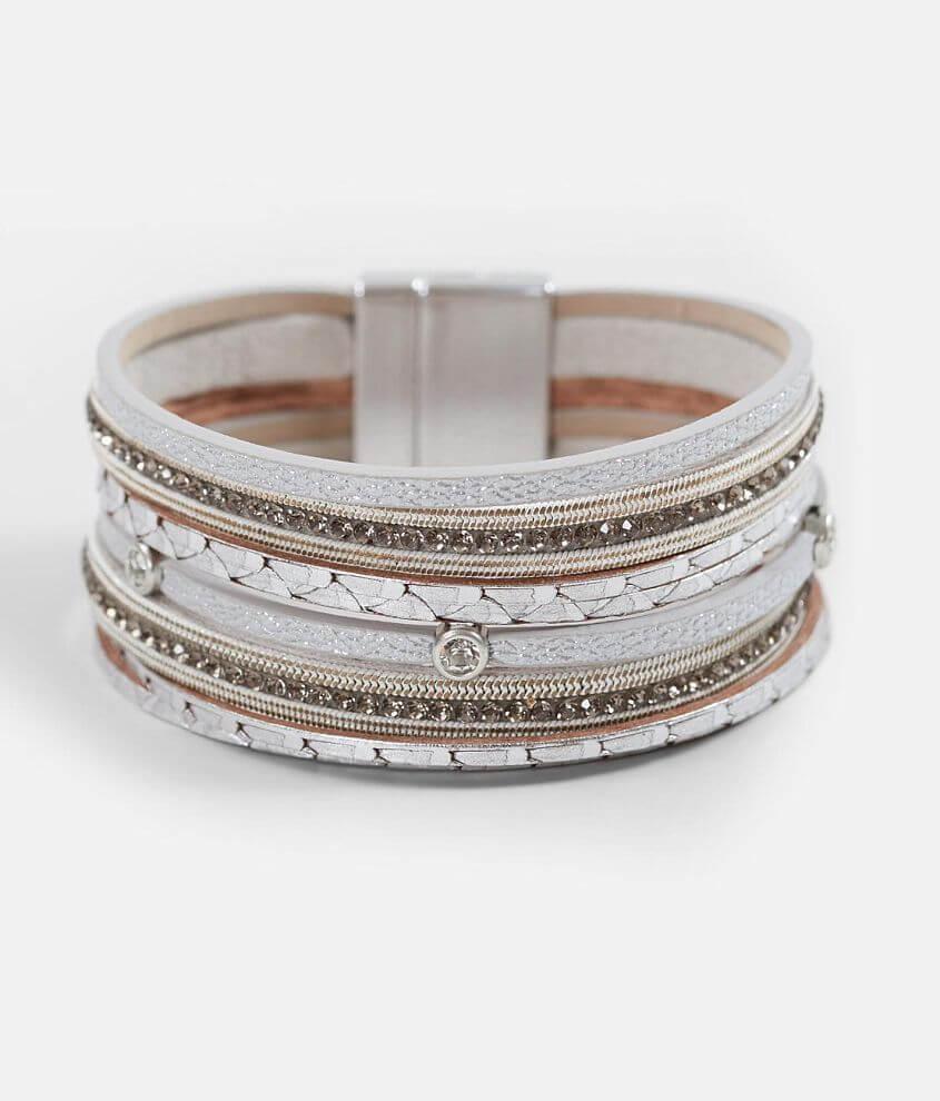 BKE Metallic Glitz Bracelet front view