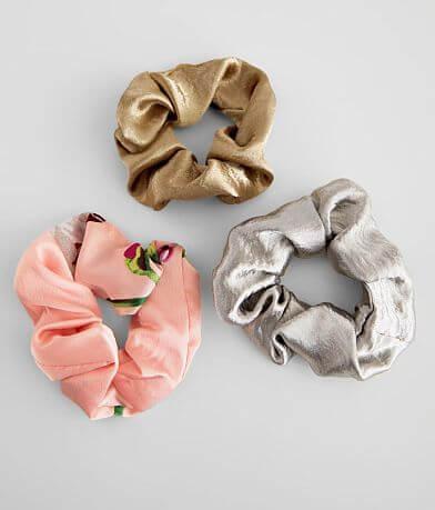 Satin 3 Pack Scrunchie Set