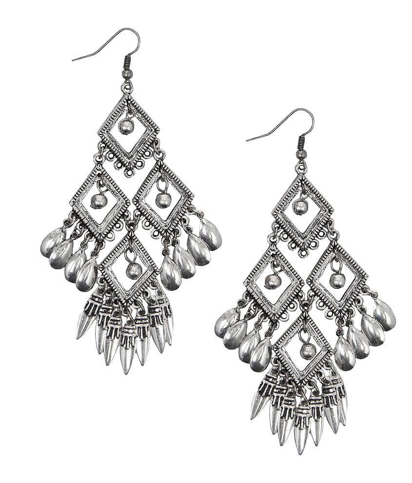 BKE Tiered Chandelier Earring front view