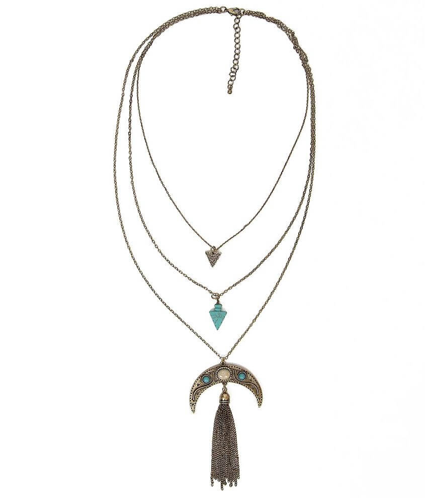 Daytrip Half Moon Necklace front view