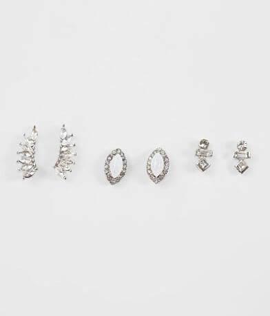 BKE Rhinestone Earring Set