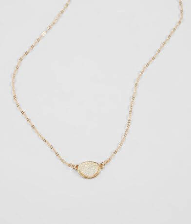 BKE Dainty Druzy Necklace