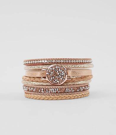 BKE Metallic Glitz Bracelet